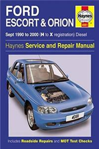 eBook Ford Escort and Orion Diesel Service Repair Manual: 1990 to 2000 (H to X Reg) (Haynes Service and Re download