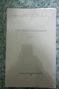 eBook The Latin cognomina (Commentationes humanarum litterarum) download