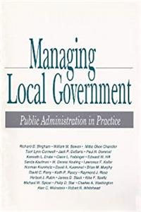 eBook Managing Local Government: Public Administration in Practice download
