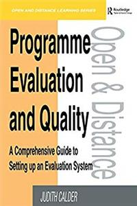 eBook Programme Evaluation and Quality: A Comprehensive Guide to Setting Up an Evaluation System (Open and Distance Learning) download