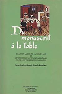 eBook Du manuscrit à la table download